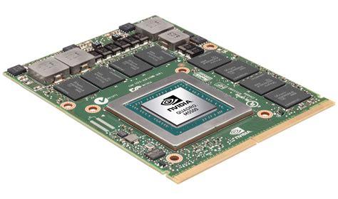 mobile graphics cards nvidia quadro m5500m 8 gb for notebooks announced