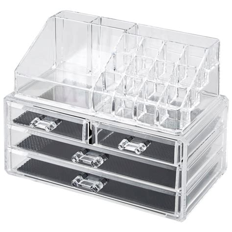clear acrylic drawers clear acrylic cosmetic organizer with drawers makeup