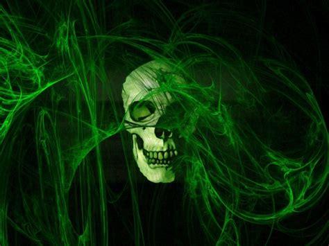 Imagenes De Calaveras Verdes | calavera humo verde fondos de pantalla
