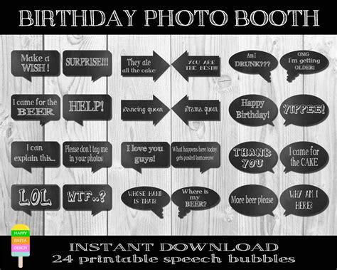 printable birthday photo booth propsbirthday photo propsdiy egrafis