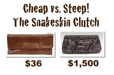 Steep Vs Cheap Snakeskin Sandals by Lookbook Cheap Vs Steep The Snakeskin Clutch