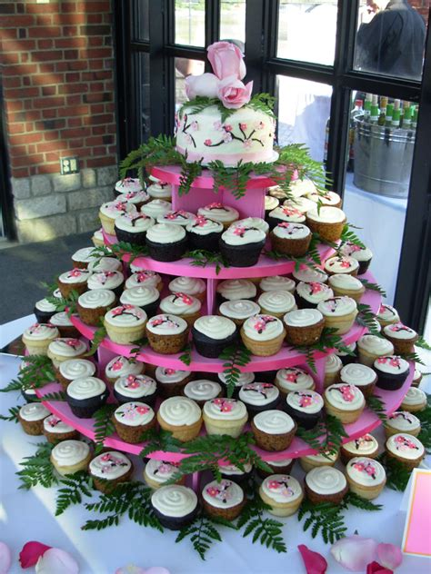 wedding cupcakes at the dinner tables albany wedding dj
