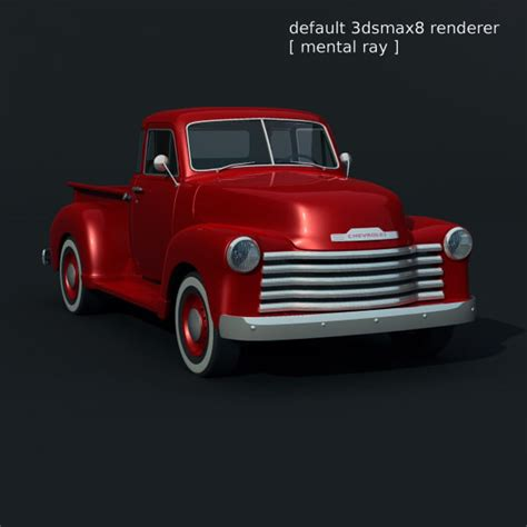 chevrolet truck 1951 3d model