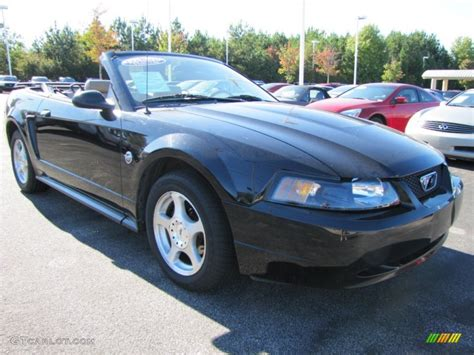 2004 ford mustang black 2004 black ford mustang v6 convertible 54851653 photo 4