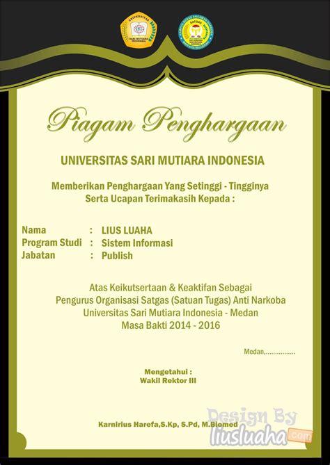 desain sertifikat kren  acara seminar piagam