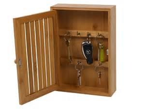 Key Storage Cabinet Bamboo Wall Mounted Key Box Brackets Cupboard Hooks Holder Storage Cabinet New Ebay
