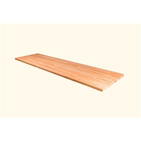 50 in x 25 in x 1 5 in wood butcher block countertop in