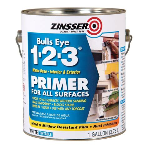 home depot paint with primer reviews zinsser bulls eye 1 2 3 1 gal white water based interior