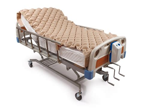 hospital bed with air mattress clipping path stock photo image of clinic care 25485302