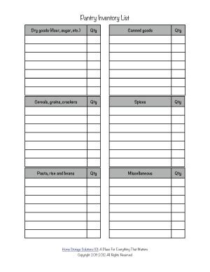 8 best images of store inventory list form printable