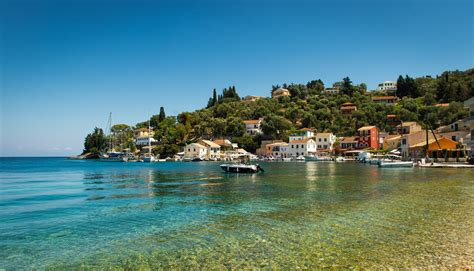 longos paxos greece ionian islands ionian sea town sea