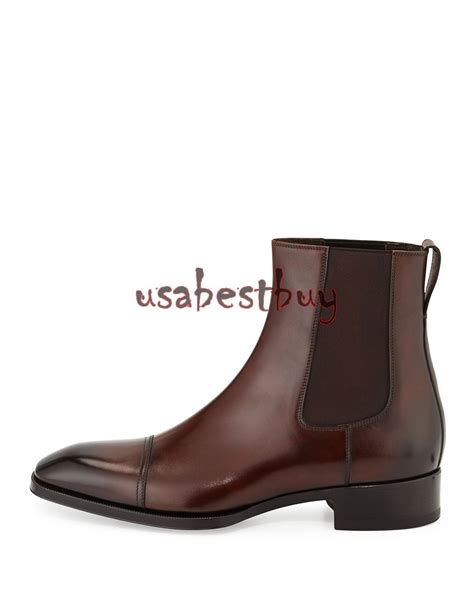 Handmade Boots - new handmade custom stylish brown leather chelsea boots