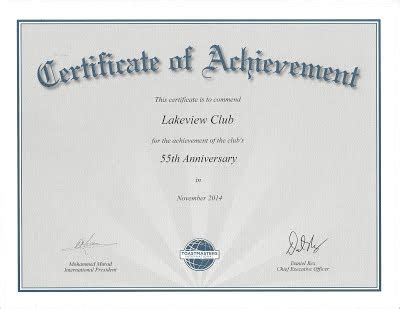 toastmasters certificate of appreciation template lakeview toastmasters club