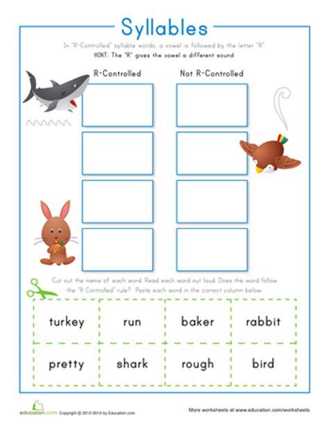 syllables worksheets 1st grade stu pen dous syllables printable workbook education