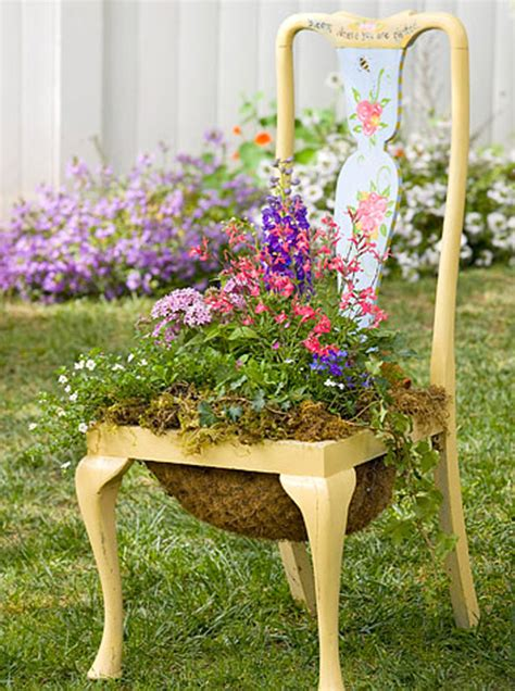 Chair Planter by Creative Chair Planters For Home Garden Home Design And