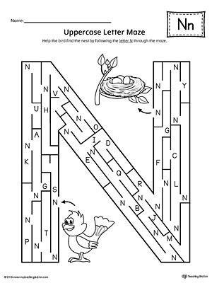 letter n worksheets learning the letter n worksheet myteachingstation 1374