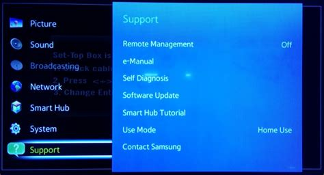 samsung tv support how to update samsung smart tv software to version