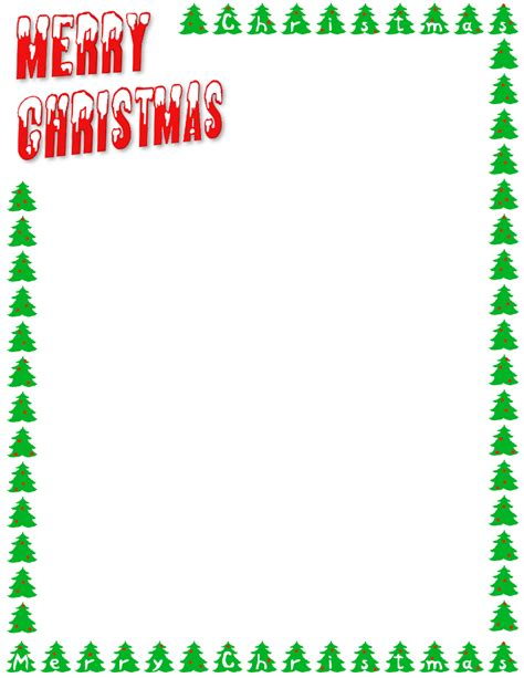 Merry Christmas Letters And Trees Page Frames Holiday Christmas Merry Christmas Letters And Merry Business Letter Template