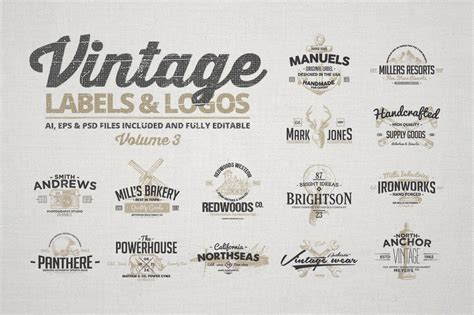 150 vintage logos and photo mock ups bundle only 16