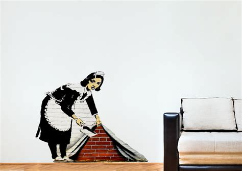 banksy wall stickers uk wall designs banksy wall sweeping it the carpet banksy wall banksy wall