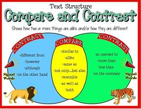 How To Compare And Contrast Two Characters In An Essay by Compare And Contrast Day 1 Mrs Petersen S 5th Grade Class