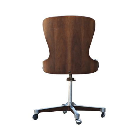 mid century modern swivel chair mid century modern plycraft swivel desk chair ebay