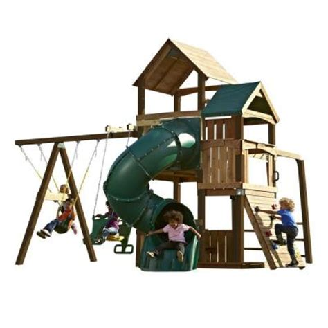 Swing N Slide Playsets Sky Tower Turbo Play Set With 5 Ft
