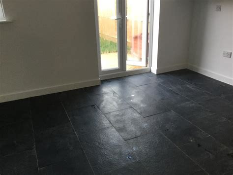 renovating a badly installed limestone tiled floor cleaning tile