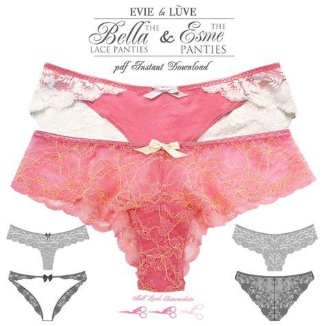 pattern underwear free download digital lingerie sewing patterns esme bella panties