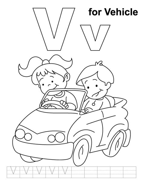 V Is For Coloring Page by V Coloring Pages Az Coloring Pages