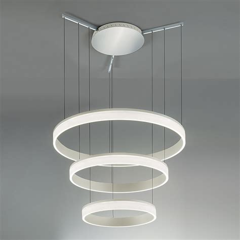 Contemporary Aluminium Ceiling Pendant With Three Tiers Pendant Light With Diffuser