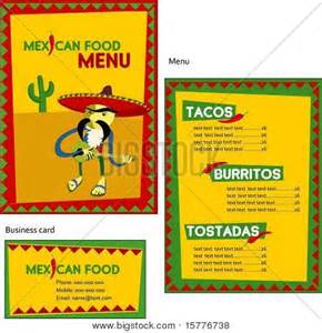 mexican menu template template designs of mexican menu and business card for