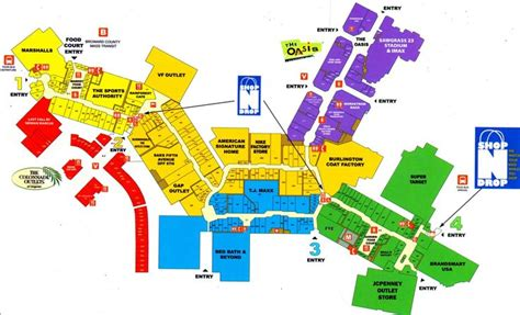 layout of dolphin mall map of sawgrass mills mall business pinterest