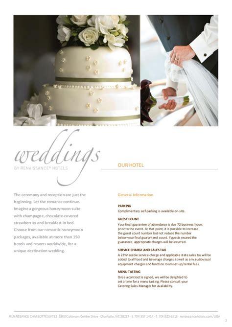 wedding deals renaissance suites wedding packages