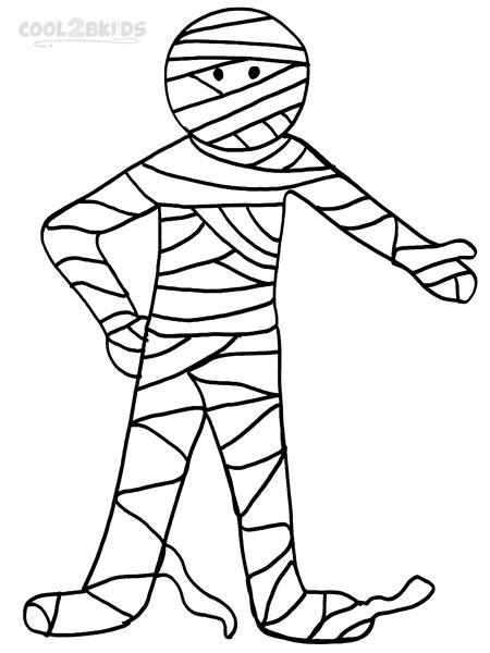 mummy coloring pages printable mummy coloring pages for cool2bkids