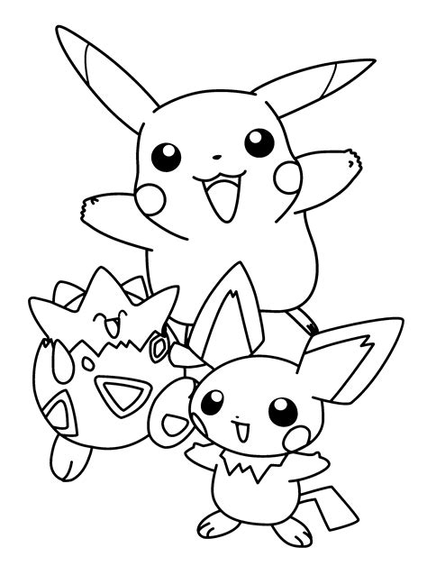 pokemon coloring pages online free coloring pages of pokemon togepi