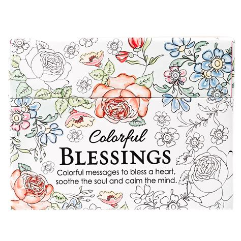 the color of blessings books coloring cards colorful blessings