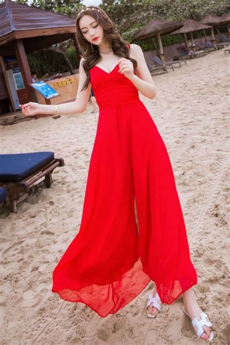 Baju Pantai Wanita Dress Maxi dress wanita korea summer dress