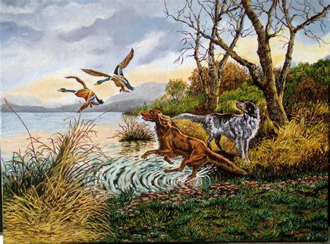 cuadros de caza perros cazadores antonia moraga olivares artelista
