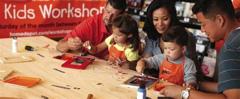 home depot workshop free building classes