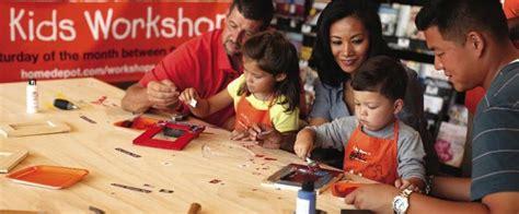 home depot kids workshops free weekly workshops home home depot kids workshop free kids building classes