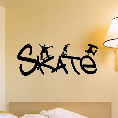 skateboard wall stickers skateboard wall decal removable skateboarder wall sticker
