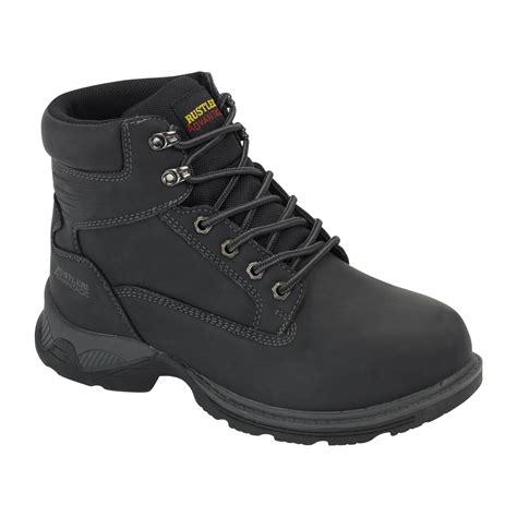 rustler s work boot black footwear for work by kmart