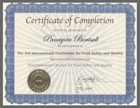 international conference certificate templates food safety certificate
