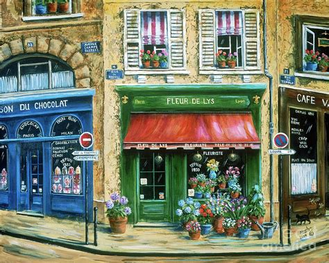 Wall Murals Cityscapes le fleuriste painting by marilyn dunlap