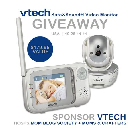 Baby Monitor Giveaway - vtech 174 video baby monitor giveaway mom blog society
