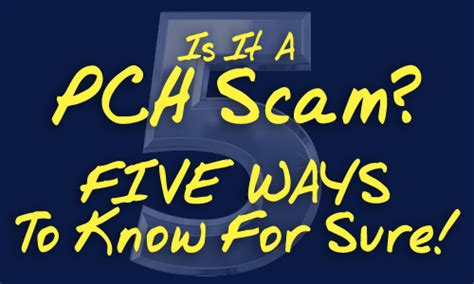 Sweepstakes Clearinghouse Scams - 5 ways to know if it s a publishers clearing house scam pch blog