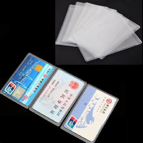 Id Card Holder Id Card Cover Id Card Kulit Id Card Name Tag 212 10pcs pvc transparent credit card holder protect id card business card cover in card id
