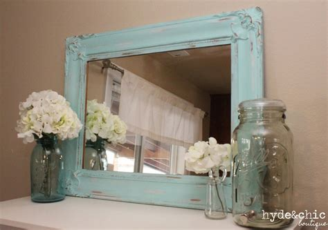 shabby chic decor distressed large mirror baker city