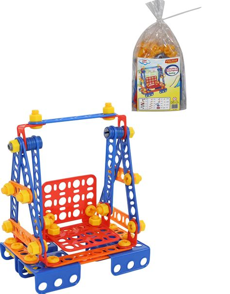 swing set pieces construction set young engineer swing 109 pieces bag